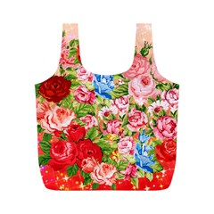 Pretty Sparkly Roses Full Print Recycle Bags (M)