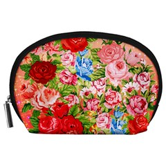 Pretty Sparkly Roses Accessory Pouches (large)