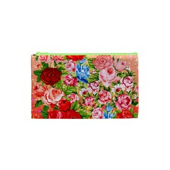 Pretty Sparkly Roses Cosmetic Bag (XS)