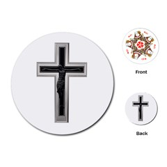Christian Cross Playing Cards (round)