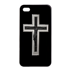 Christian cross Apple iPhone 4/4s Seamless Case (Black)