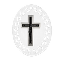 Christian Cross Ornament (oval Filigree)