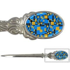 Blue yellow shapes Letter Opener