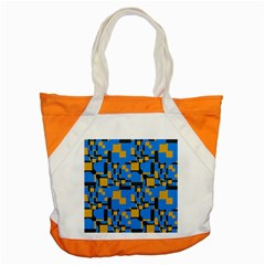 Blue Yellow Shapes Accent Tote Bag