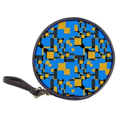 Blue yellow shapes Classic 20-CD Wallet