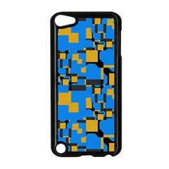 Blue yellow shapes Apple iPod Touch 5 Case (Black)