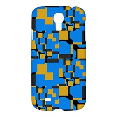 Blue yellow shapes Samsung Galaxy S4 I9500/I9505 Hardshell Case