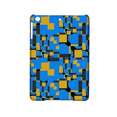 Blue yellow shapes Apple iPad Mini 2 Hardshell Case