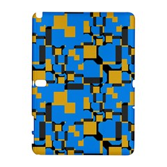 Blue yellow shapes Samsung Galaxy Note 10.1 (P600) Hardshell Case