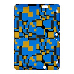Blue Yellow Shapes	kindle Fire Hdx 8 9  Hardshell Case