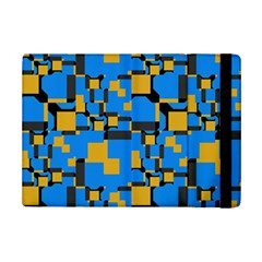 Blue Yellow Shapes	apple Ipad Mini 2 Flip Case