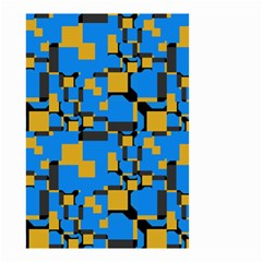 Blue yellow shapes Small Garden Flag