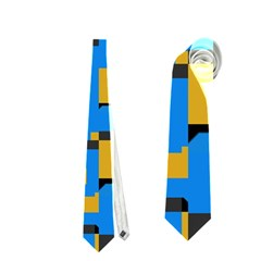 Blue Yellow Shapes Necktie