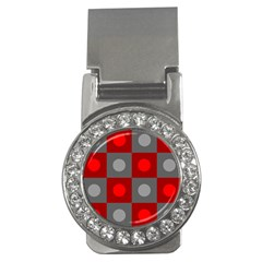 Circles in squares pattern Money Clip (CZ)