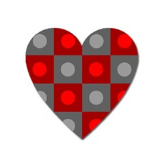 Circles In Squares Pattern Magnet (heart)