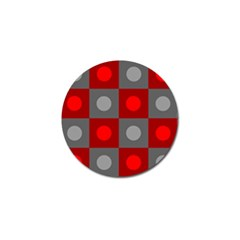 Circles In Squares Pattern Golf Ball Marker