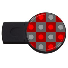 Circles in squares pattern USB Flash Drive Round (2 GB)
