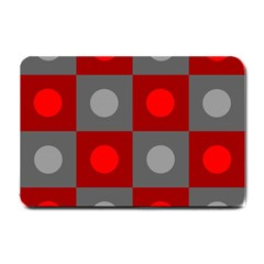 Circles In Squares Pattern Small Doormat