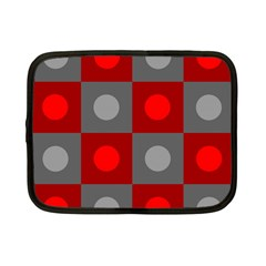 Circles in squares pattern Netbook Case (Small)
