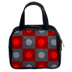 Circles in squares pattern Classic Handbag (Two Sides)