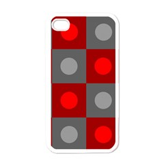 Circles in squares pattern Apple iPhone 4 Case (White)