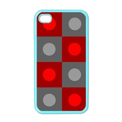 Circles in squares pattern Apple iPhone 4 Case (Color)