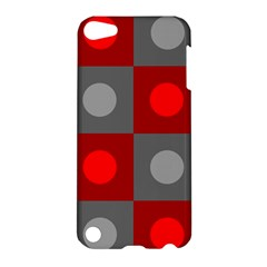 Circles In Squares Pattern Apple Ipod Touch 5 Hardshell Case