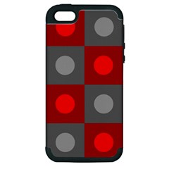 Circles in squares pattern Apple iPhone 5 Hardshell Case (PC+Silicone)