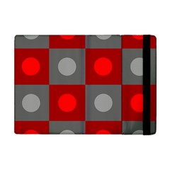 Circles in squares pattern Apple iPad Mini Flip Case
