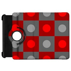 Circles in squares pattern Kindle Fire HD Flip 360 Case