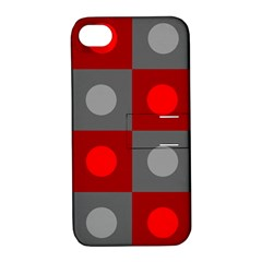 Circles in squares pattern Apple iPhone 4/4S Hardshell Case with Stand