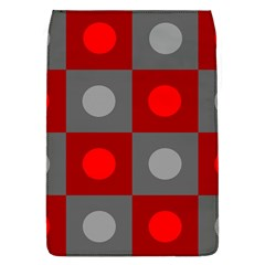 Circles in squares pattern Removable Flap Cover (L)