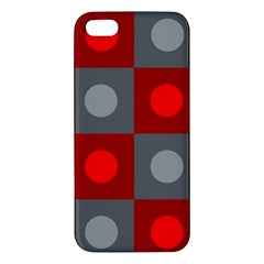 Circles in squares pattern iPhone 5S Premium Hardshell Case