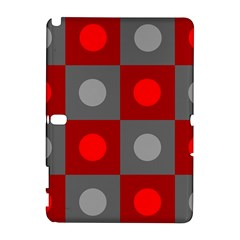 Circles In Squares Pattern Samsung Galaxy Note 10 1 (p600) Hardshell Case