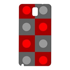 Circles in squares pattern Samsung Galaxy Note 3 N9005 Hardshell Back Case