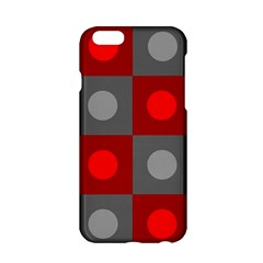 Circles In Squares Pattern Apple Iphone 6 Hardshell Case