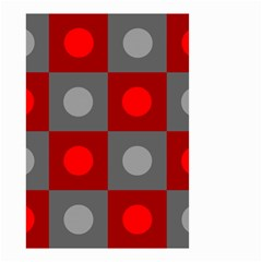 Circles In Squares Pattern Small Garden Flag