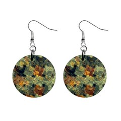 Stars circles and squares 1  Button Earrings