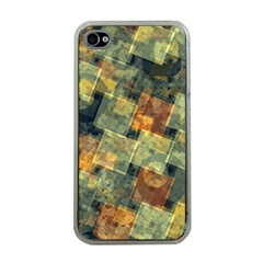 Stars circles and squares Apple iPhone 4 Case (Clear)