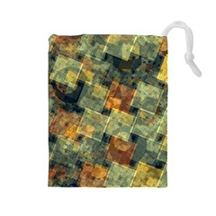 Stars circles and squares Drawstring Pouch