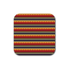 Waves and stripes pattern Rubber Square Coaster (4 pack)
