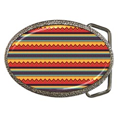 Waves and stripes pattern Belt Buckle