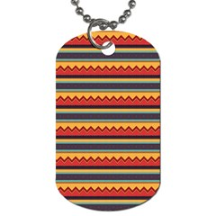 Waves and stripes pattern Dog Tag (Two Sides)