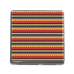 Waves and stripes pattern Memory Card Reader (Square)