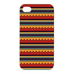 Waves And Stripes Pattern Apple Iphone 4/4s Hardshell Case