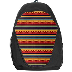 Waves and stripes pattern Backpack Bag