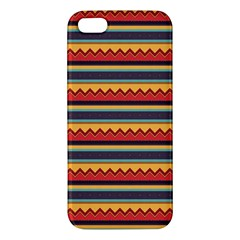 Waves and stripes pattern iPhone 5S Premium Hardshell Case