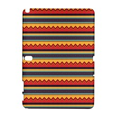 Waves And Stripes Pattern Samsung Galaxy Note 10 1 (p600) Hardshell Case