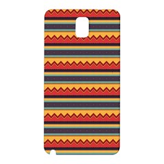 Waves and stripes pattern Samsung Galaxy Note 3 N9005 Hardshell Back Case