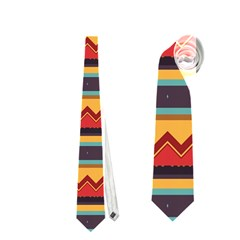 Waves and stripes pattern Necktie